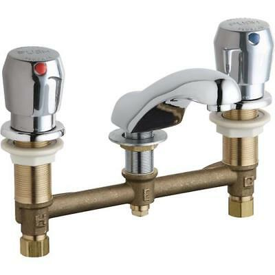 Chicago Faucets 404-V665ABCP Concealed Hot and Cold Water Metering Sink Faucet ,