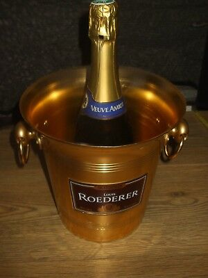 Vintage Retro French Louis Roederer Gold Colour Champagne Wine Ice Bucket Unused
