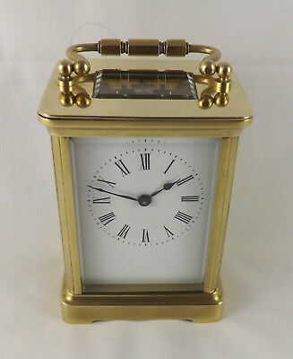 Antique 8 Day French Brass Carriage Clock - Cleaned And Serviced