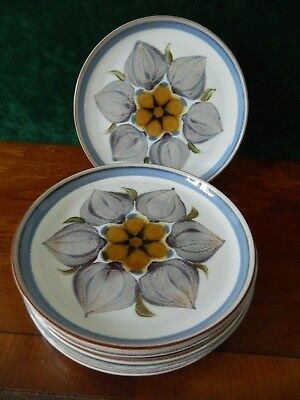 6 Denby  'chatsworth ' Side Plates