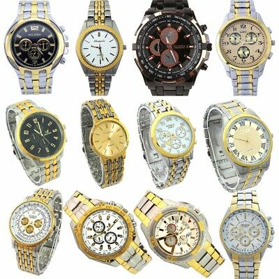 10pcs/Lot, Mixed Bulk Men Business Watches Luxury Dress Quartz Wristwatch NGT1