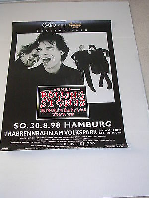 THE ROLLING STONES 1998 HAMBURG GERMANY Concert Poster