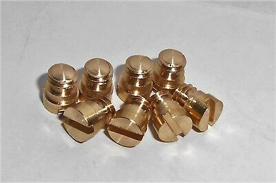 MECCANO 140z BRASS SHOULDER BOLTS - 8pcs BUY ONE LOT AND GET ONE LOT FREE