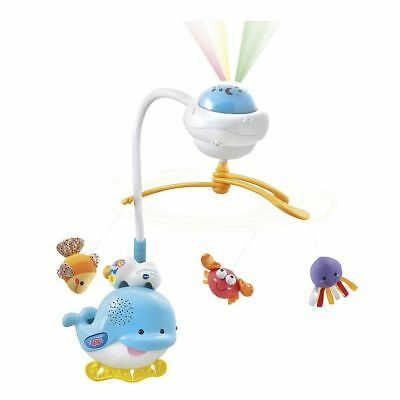 NEW VTech Baby 2-in-1 Ocean Sounds Whale Light Projecting Mobile Cot Toy