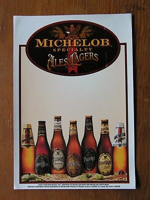 Michelob Ales & Lagers Window Cling ~NEW Beer Brewing Co. Logo Brewery Decal~