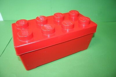 Genuine Official Red Lego Brick 4x2 Storage Box Container *34 x 17 x 15 cm*