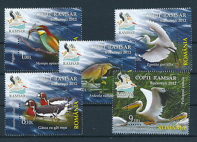[H0454] Romania 2012 Birds good Very Fine MNH set of stamps