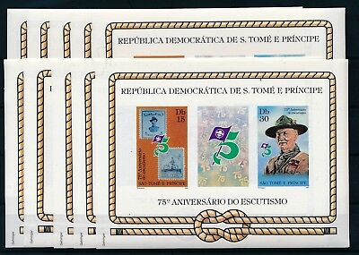 [H2467] Sao Tome & Principe 1982 Scouting good Very Fine MNH imperfor. sheet x10