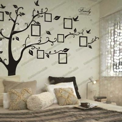Huge Family Photo Frames Tree Birds Fly Wall Stickers Home Decor +++extra frames