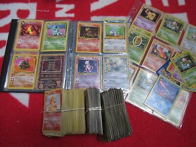 Retro Pokemon Trading Cards In Folder Joblot Holo And Base