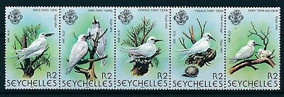 [H3386] Seychelles 1981 : Birds - Good Set of Very Fine MNH Stamps in strip