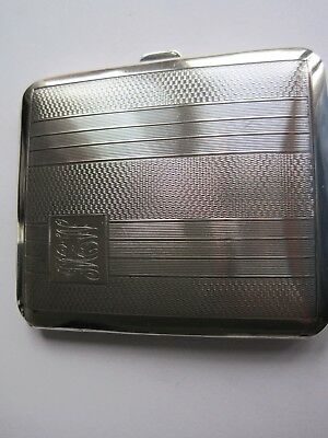 Sterling silver cigarette case, stunning condition Birmingham 1936