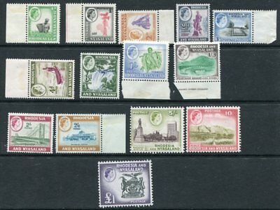 RHODESIA NYASALAND 1959 QEII Definitives MNH MH (5s) Set to £1 14 Stamps