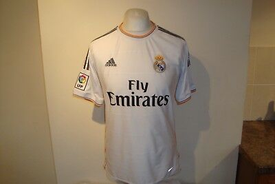 Real Madrid #23 ISCO 2013-14 Home Football Shirt Medium Mens Adidas