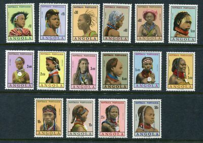 ANGOLA 1961 PORTRAITS MNH Set 16 Stamps
