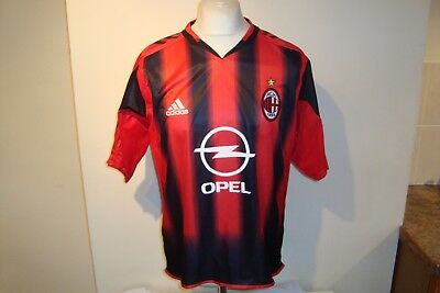 AC Milan 2004-05 Home Football Shirt Medium Mens - Adidas