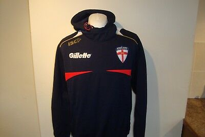England Rugby League ISC Hooded Tracksuit Track Top Jacket Large Mens