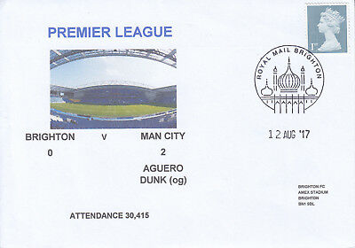 Brighton V Man City Premeirship 12 Aug 2017 Envelope