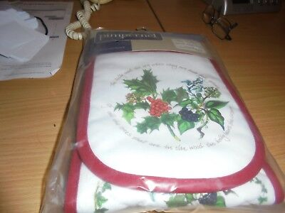 BNWT  Portmeirion Holly and Ivy double oven gloves