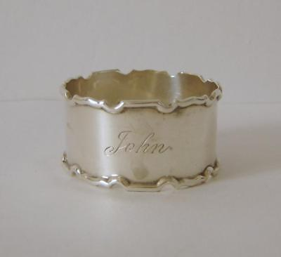 A Vintage Sterling Silver Napkin Ring Birmingham 1919 Selfridge & Co Ltd