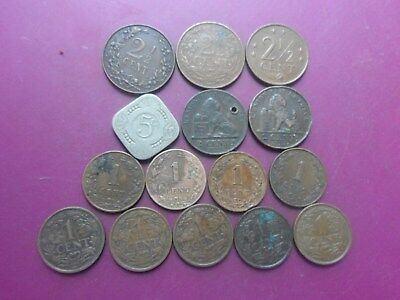 15 Coins Of Netherlands. 1864 - 1971. Fine.
