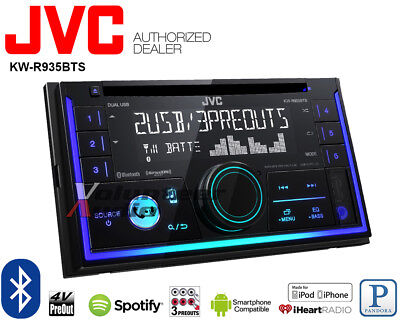 JVC KW-R935BTS Double Din CD Player Car Radio Bluetooth Pandora Multi Color