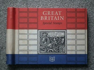 SG special stamp album & 68 blank pages.