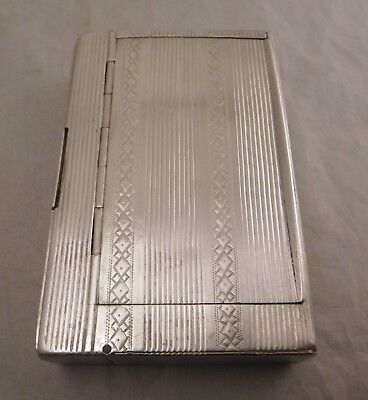 Antique Russian Aa84 Ac Moscow Silver Card Snuff Secret Compartment Tobacco Case