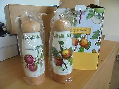 Portmeirion Pomona  Salt and Pepper Mills BNWT L@@K