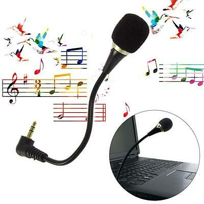 3.5mm Flexible Mini Microphone Mic for Laptop Notebook PC Podcast Skype Chat RR