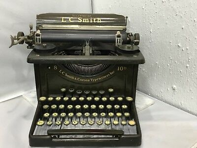 Beautiful Antique Vintage Lc Smith & Corona 8/10 Typewriter Secretarial