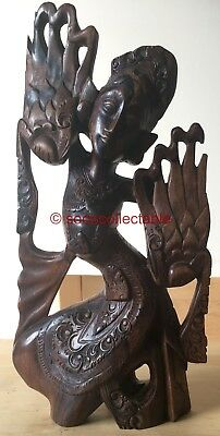 antique ROOTWOOD carved CHINESE or TIBETAN CARVED HARDWOOD GODDESS figure