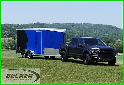 New! Aluminum 7.5 X 17 Moto/utv Toyhauler Enclosed Cargo Trailer - Extra Height