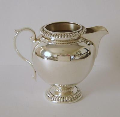 An Ornately Embossed Vintage Sterling Silver Cream Jug Sheffield 1929 117 Grams