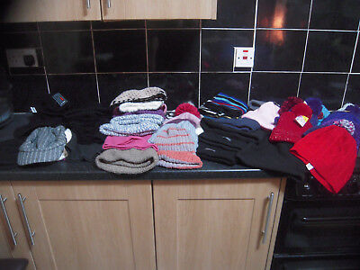 joblot mens and ladies winter hats