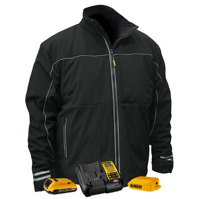 DEWALT 20V MAX Heated Work Jacket w/ Battery Kit (Black, XL) DCHJ072D1XL New