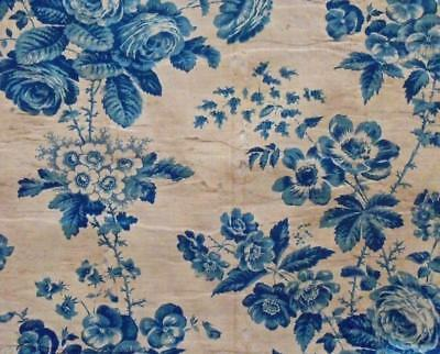 TIMEWORN FRAGMENT MID 19th CENTURY FRENCH PROVENCAL COTTON, REF