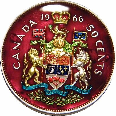 WCA Enamelled 50 Cents 1966 Canada