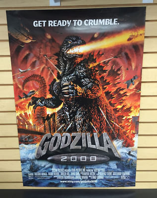 "GODZILLA 2000 One Sheet Original Movie Poster 27"" x 41"" ~ Get Ready to Crumble !"