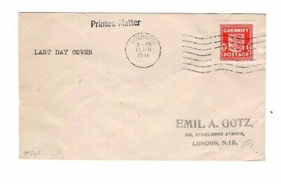 Guernsey, Last Day Cover 1946,  Unusual