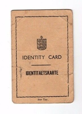 Guernsey, German Occupation Identity Card, Scarcer Buff Colour