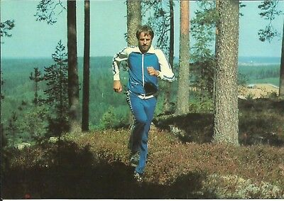 LASSE VIREN (4 time Olympic Champion), 1970's POSTCARD, ORIGINALLY SIGNED!