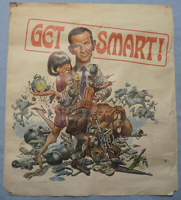 GET SMART 1966 TV Show Promotional Poster rolled Jack Davis ACCEPTABLE condition