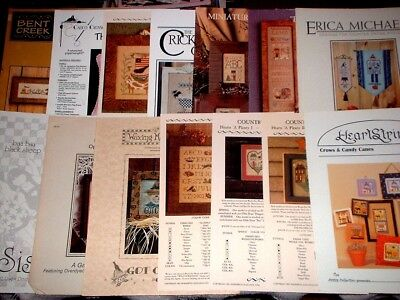 EP Counted Cross Stitch Pattern Graph Chart Lot Love Home Country Fall Samplers