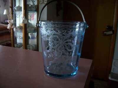 Fostoria June Azure blue ice bucket