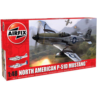 AIRFIX A05131 North American P51-D Mustang 1:48 Aircraft Model Kit