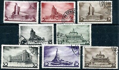 1937 - Russia - Architectural Congress Set Of 8, Used