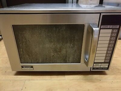 Sharp R-24AT commercial microwave oven - fautly