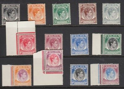 Singapore 1948 Set to $1 Perf 14 Fine MLH