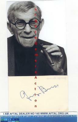 George Burns vintage signed card AFTAL